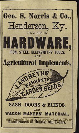 Ad Newspaper 2001 78 1 Vintage Hardware Henderson My Old Kentucky Home