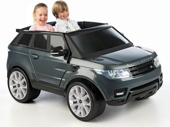 dark grey range rover sport 12v kids luxury toy battery powered ride on