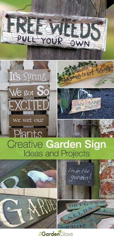 Creative Garden Sign Ideas And Projects U2022 Lots Of Great Ideas And  Tutorials! By Sherri32 | Yard | Pinterest | Garden Signs, Tutorials And  Creative