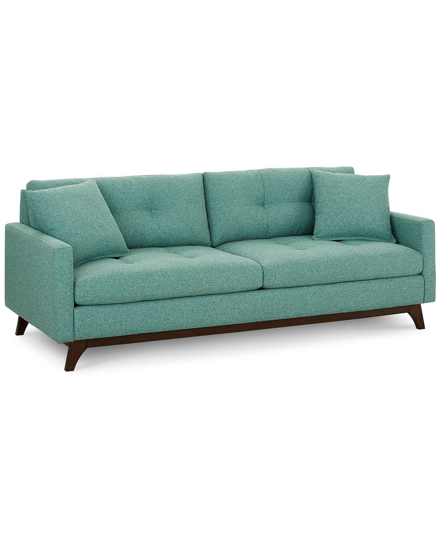 Nari 89 Fabric Tufted Estate Sofa Created For Macy S