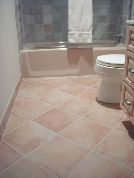 Tiled Bathroom Floors Diagonal Floor