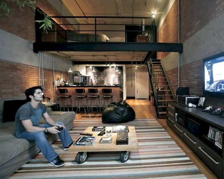 53 Awesome Efficient Tiny Loft Apartment Decorating Ideas Loft House Design Apartment Interior Loft Decor
