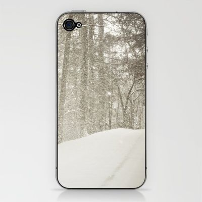 Stopping by a Snowy Woods iPhone & iPod Skin - $15.00