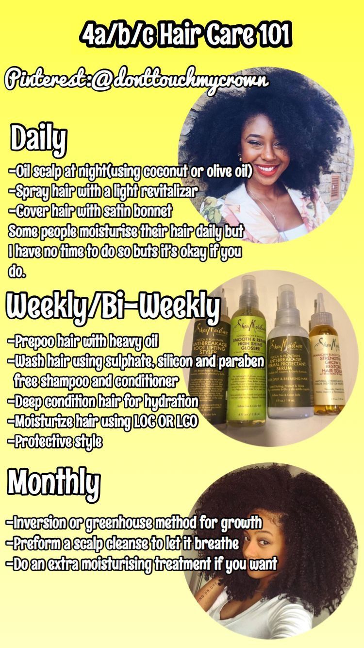 Hair Care Regimen For Type 4 Hair Itsaleceya Follow For More