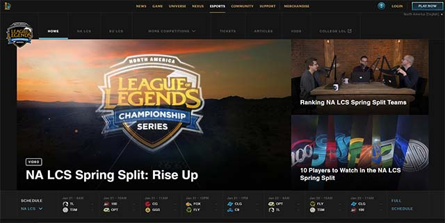 Where To Watch League Of Legends Esports Esports Twitch Channel