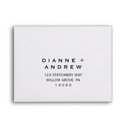 Bold Text Printed Address RSVP Envelope Zazzle in 2019