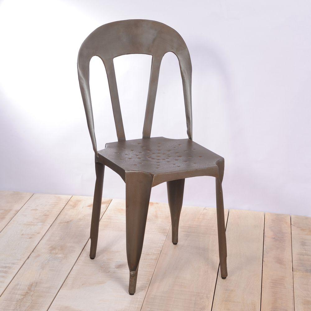 Natural Kullu Metal Chair (India)   Overstock.com Shopping ...