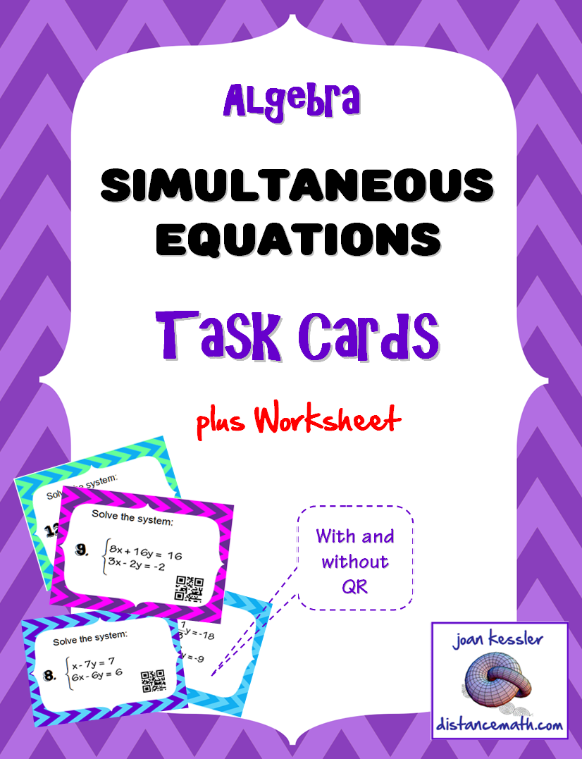 Worksheets Simultaneous Equations Worksheet algebra systems of equations task cards plus worksheet to be worksheet