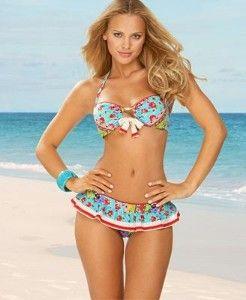 Bandeau Style Skirted Bikini