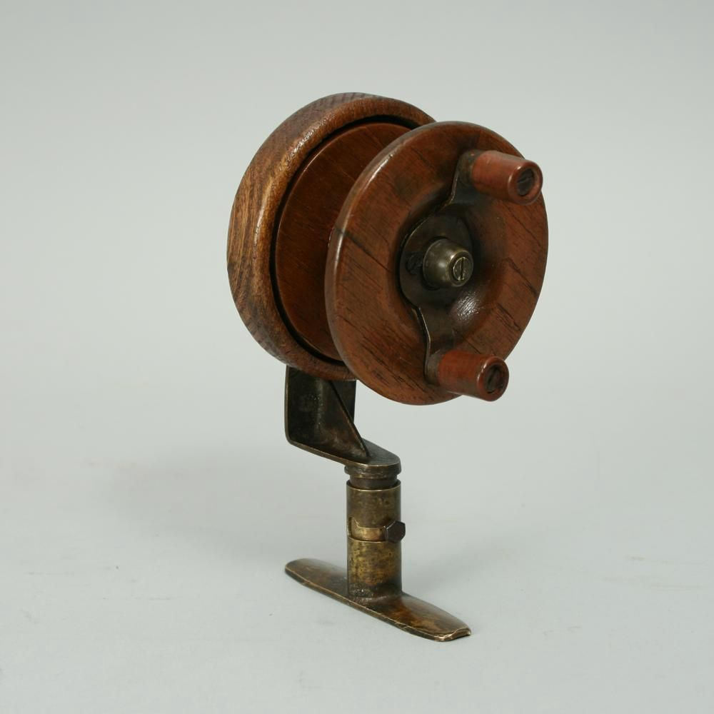 Antique Fishing Rods And Reels Vintage Wooden Side Casting