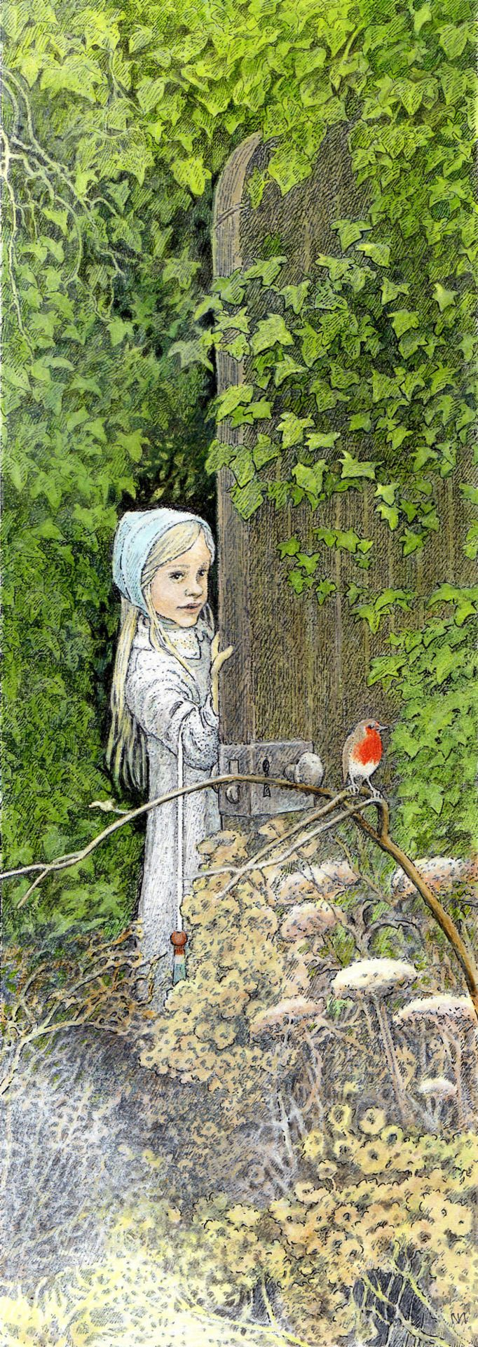 Why is nature-especially the garden- important in children's literature?