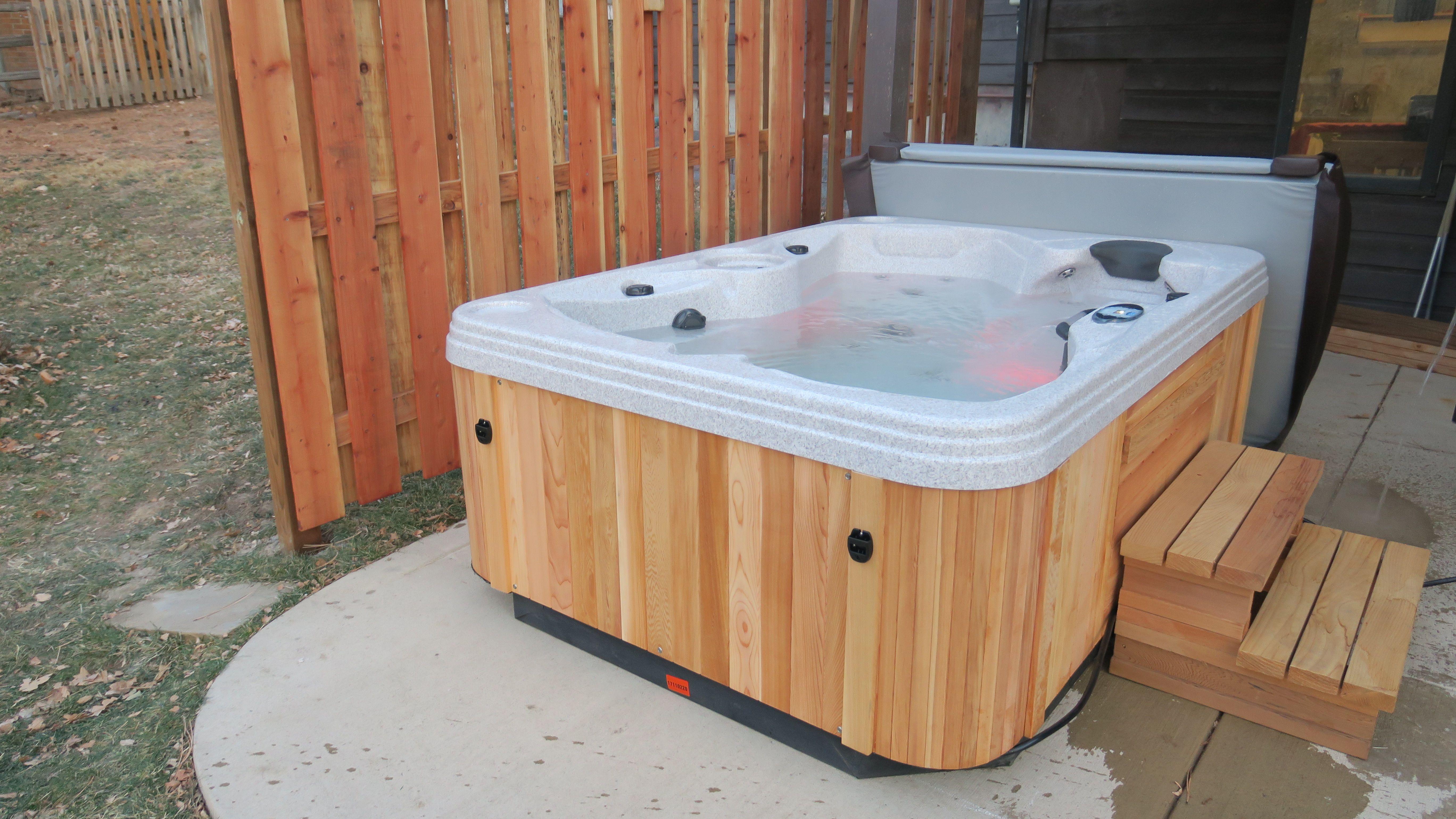 Cedar Hot Tub 2 3 Person Coastspas 110v 220 Convertible