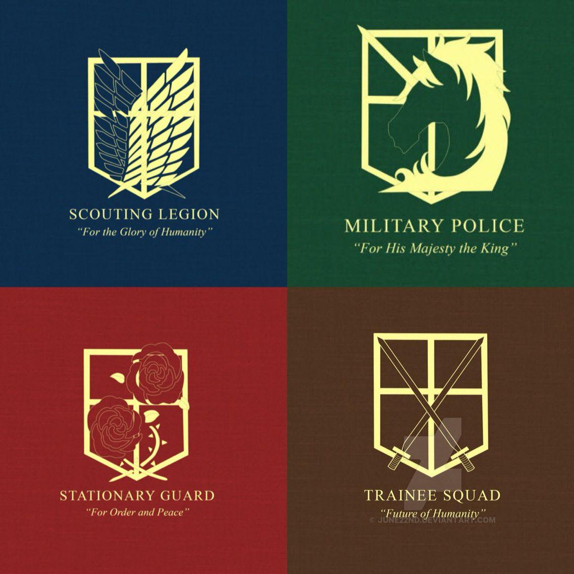 Scout Regimen Military Police Stationary Guard And Trainee Squad Tropa De Exploracao Ataque Dos Titas Anime