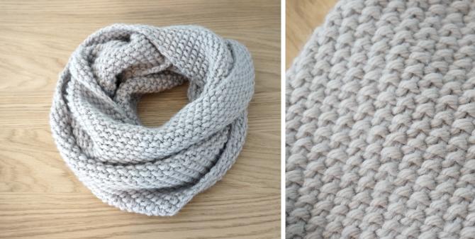 tricoter un snood sans couture