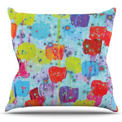 KESS InHouse Speckle Me Dotty by Ebi Emporium Outdoor Throw Pillow