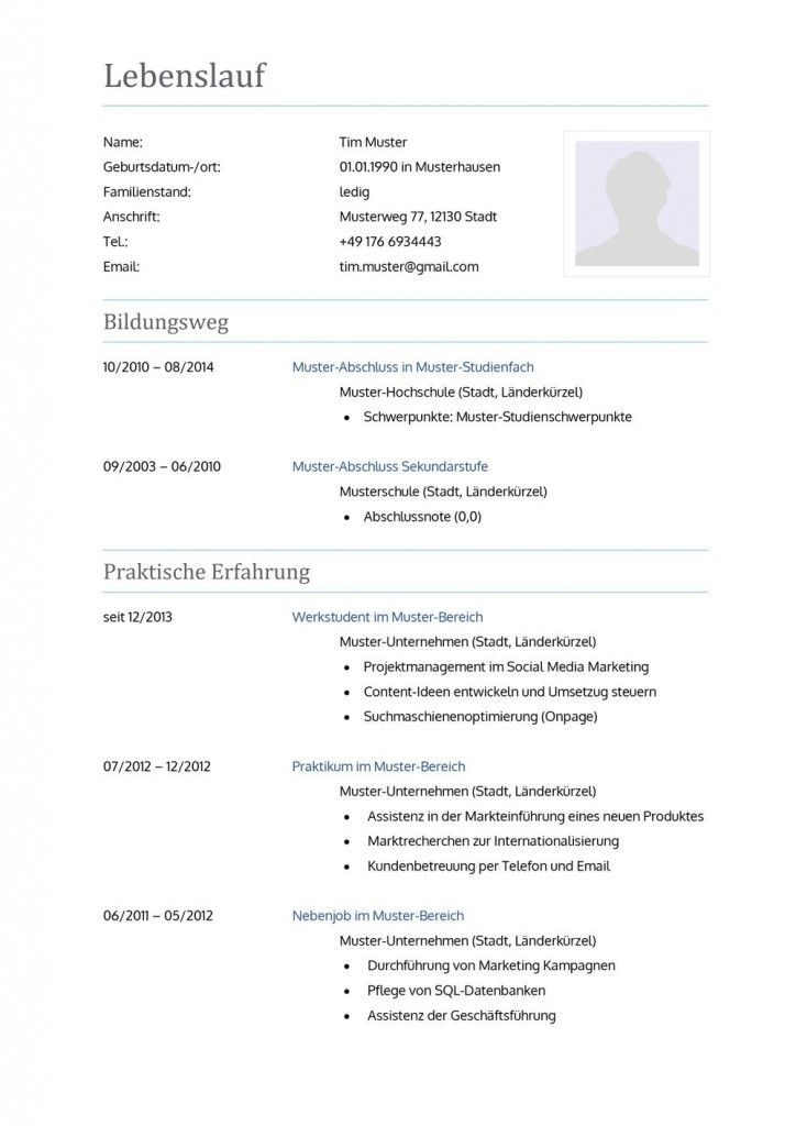 Cv Template In Modern Friendly Look As Free Download Job