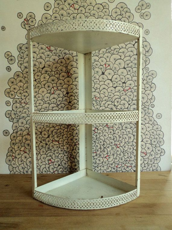 Vintage Metal Corner Shelf By Biancaserecin On Etsy 30 00