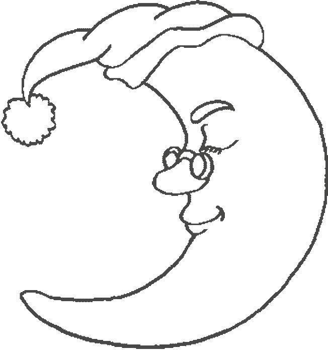 Luna Para Colorear Dibujos De Lunas Para Imprimir Y Pintar
