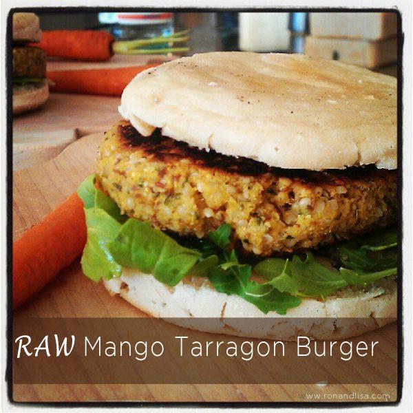 RAW Mango Tarragon Burger