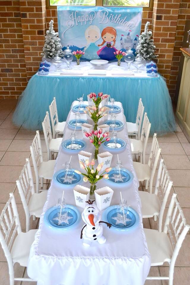 Frozen table setting & Frozen table setting | winter crafts | winter crafts by kim lange ...