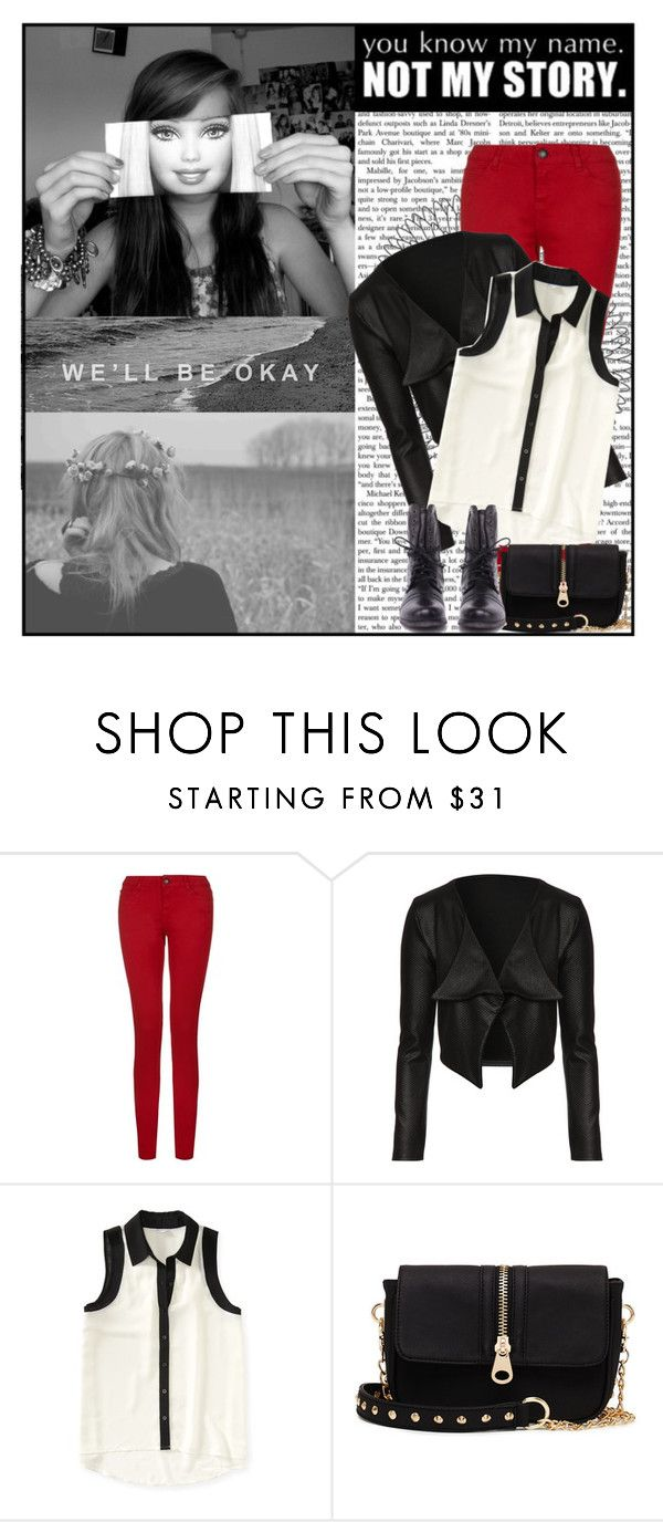 """I've Been A Stranger Ever Since We Fell Apart"" by wonderstruckambition ❤ liked on Polyvore featuring Jane Norman, Aéropostale, 2b bebe, Steve Madden, SimpleOutfits, red, pretty, Boots and blackandwhite"