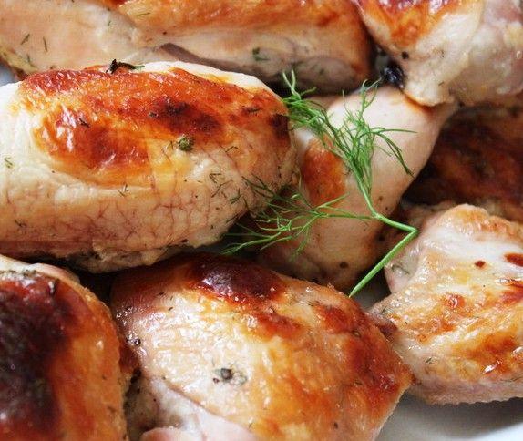 طريقة عمل دجاج مشوي في الفرن باللبن Food Chicken Meat