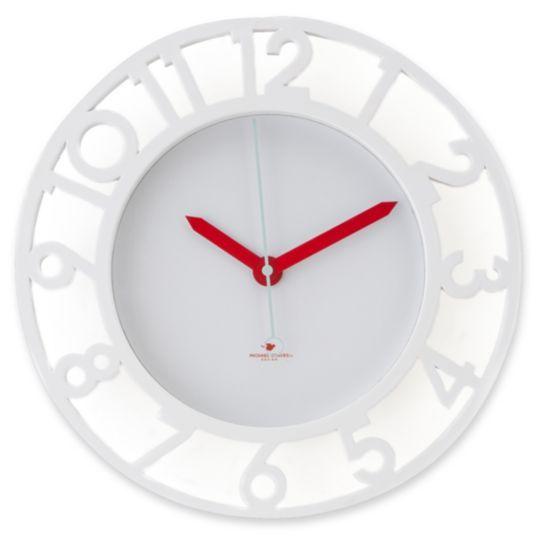 Michael Graves Design White Wall Clock H O M E D E C O