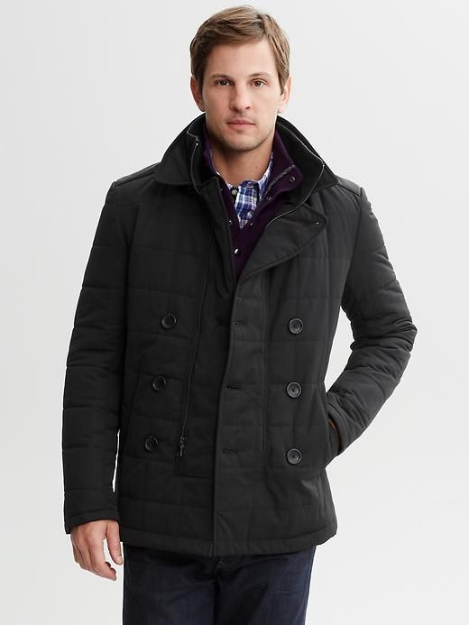 Quilted nylon pea coat Product Image | My wish list | Pinterest ... : quilted pea coat - Adamdwight.com