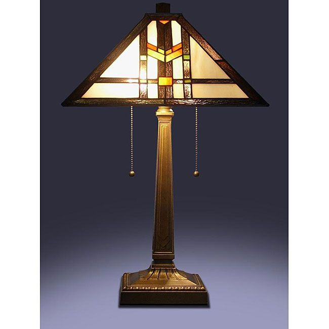 Add Unique Elegance To Your Home Decor With This Mission Table Lamp. This  Lovely Lamp Is Constructed With A Zinc Alloy Base. The Tiffany Style Shade  Is ...