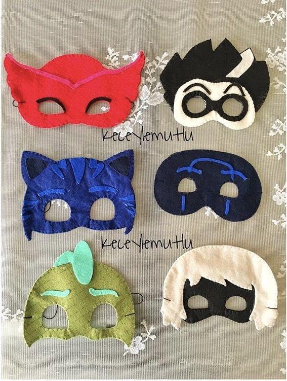 Kece Maske Pijamaskeliler Felt Mask Pjmask Maskeler Kece
