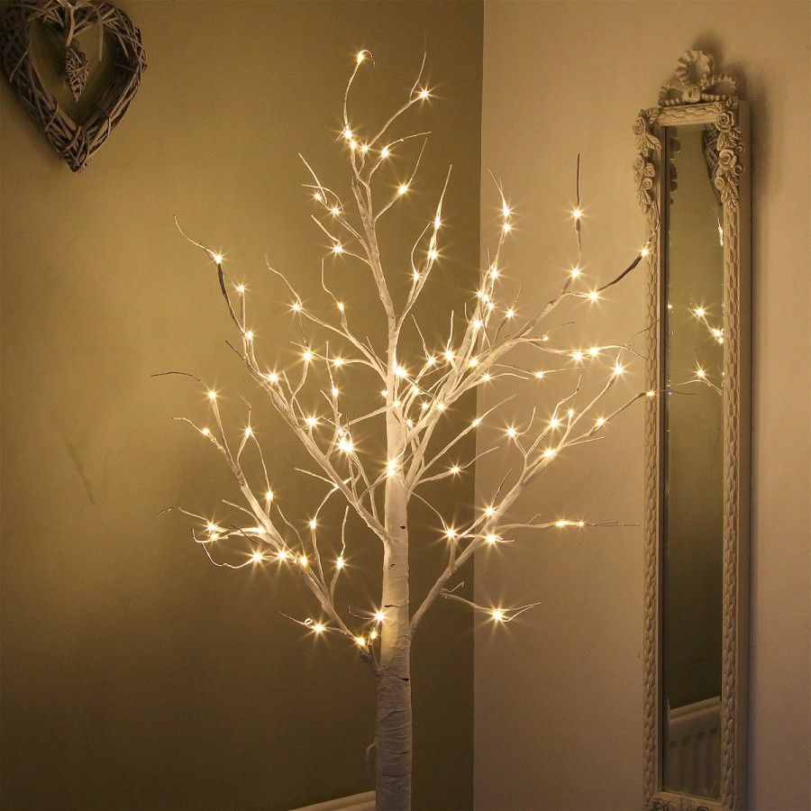 Buy 180cm Birch Twig Tree with 96 Warm White LEDs Festive