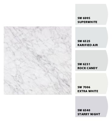 Check Out These Colors I Just Chipped Carrera Marble Paint Colors Bathroom Paint Colors