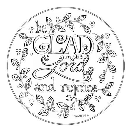 Be Glad In The Lord Color Page Bible Coloring Pages Coloring
