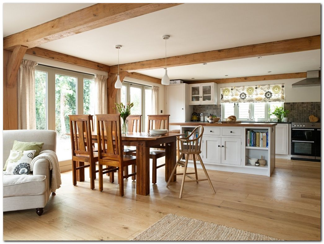 Choose Simple Laminate Flooring In Kitchen And 50 Ideas The Urban Interior Open Plan Kitchen Dining Living Kitchen Dining Living Open Plan Kitchen Dining