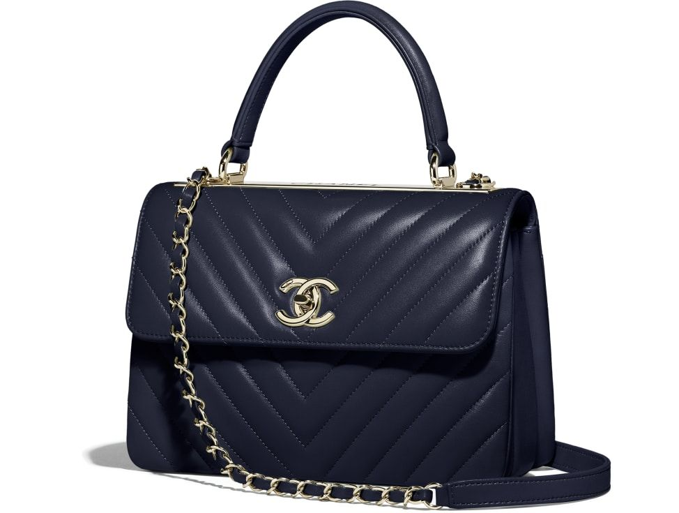 d1e220a8a5c6 Small Flap Bag with Top Handle, lambskin & gold-tone metal, green - CHANEL