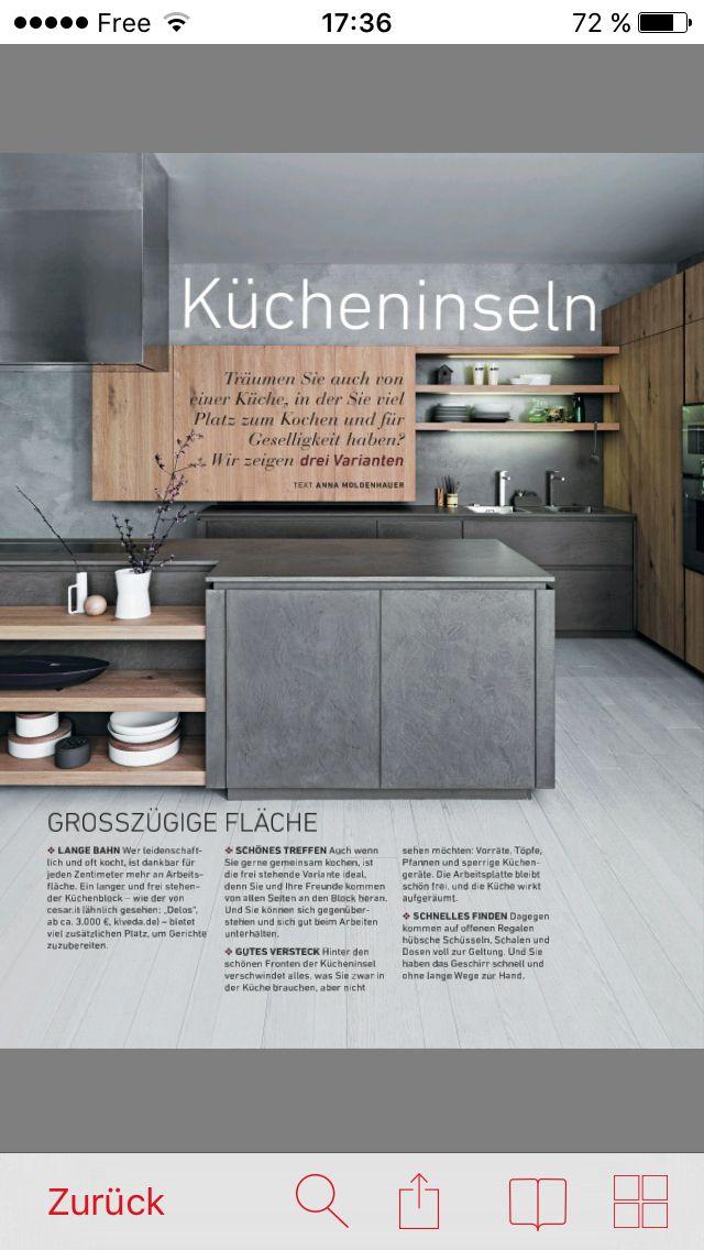 Kücheninsel Küche Pinterest Kitchens, Kitchen design and Interiors