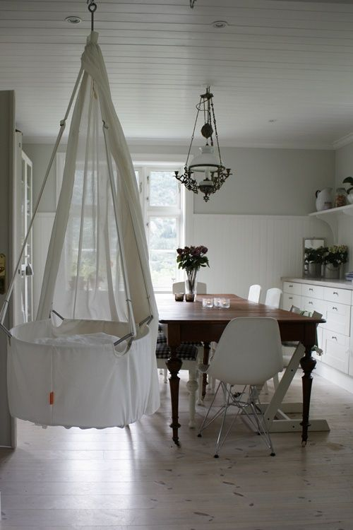 Dining Area with Beautiful Bed For Baby