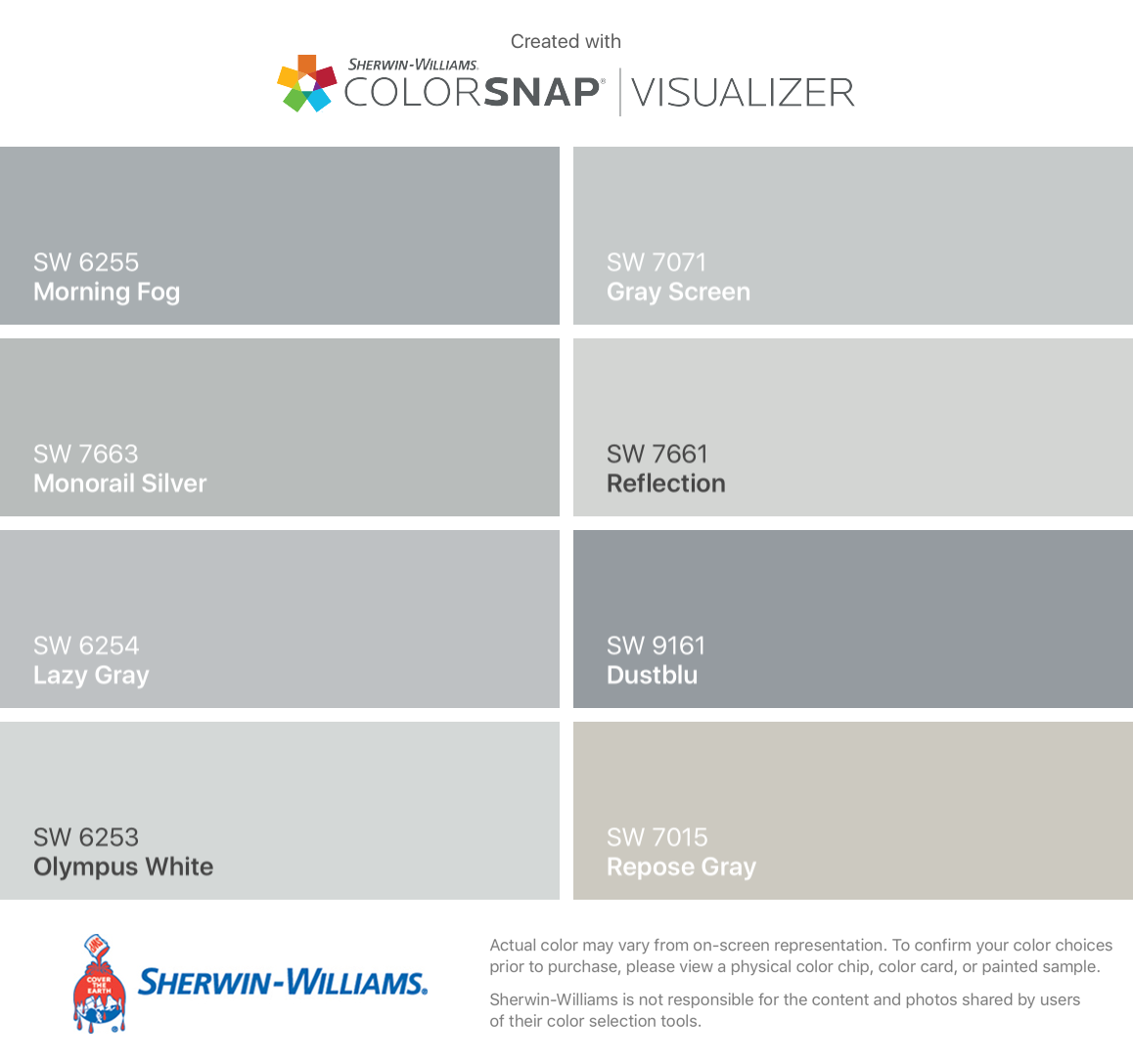 I Found These Colors With Colorsnap Visualizer For Iphone By Sherwin Williams Paint Colors For Home Sherwin Williams Paint Colors Sherwin Williams Paint Gray