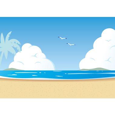 海辺 夏の無料背景イラスト イラスト 海辺 夏