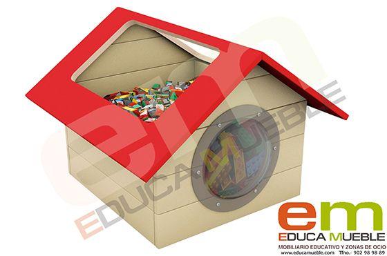 #Mueble #contenedor #infantil para guardar #juguetes. Perfecto para uso particular o para centros educativos y #colegios - Tienda Educamueble