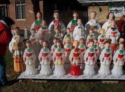 this is part of my blow mold plastic choir xmas modern christmas ornaments outdoor christmas
