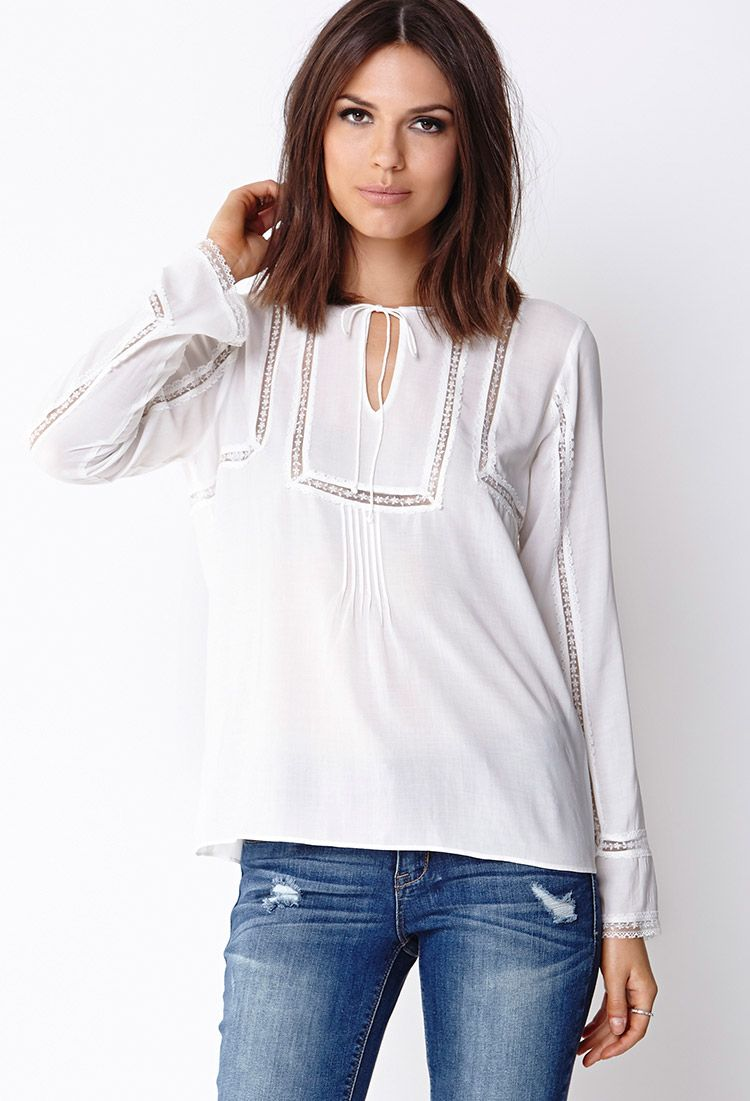Boho Sweet Peasant Top | FOREVER21 - 2000066393