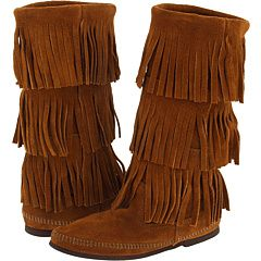 be133beb7f8a Minnetonka fringe boots.   Style Lovelies   Fringe boots, Boots ...