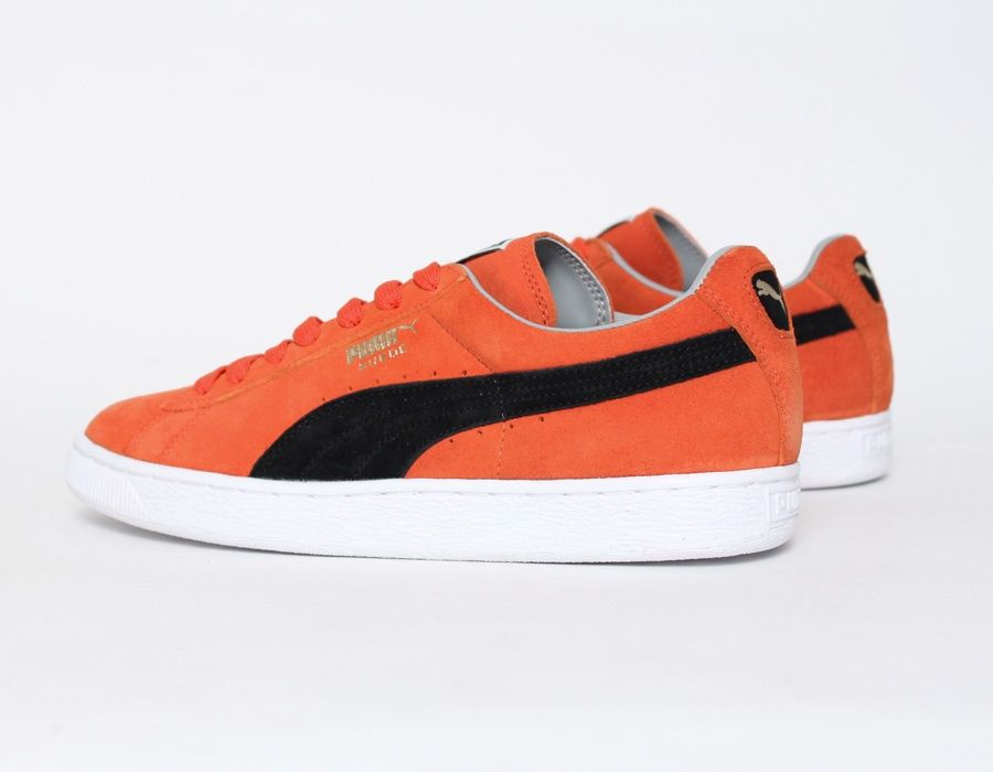 Puma Suede Black Orange  332633603