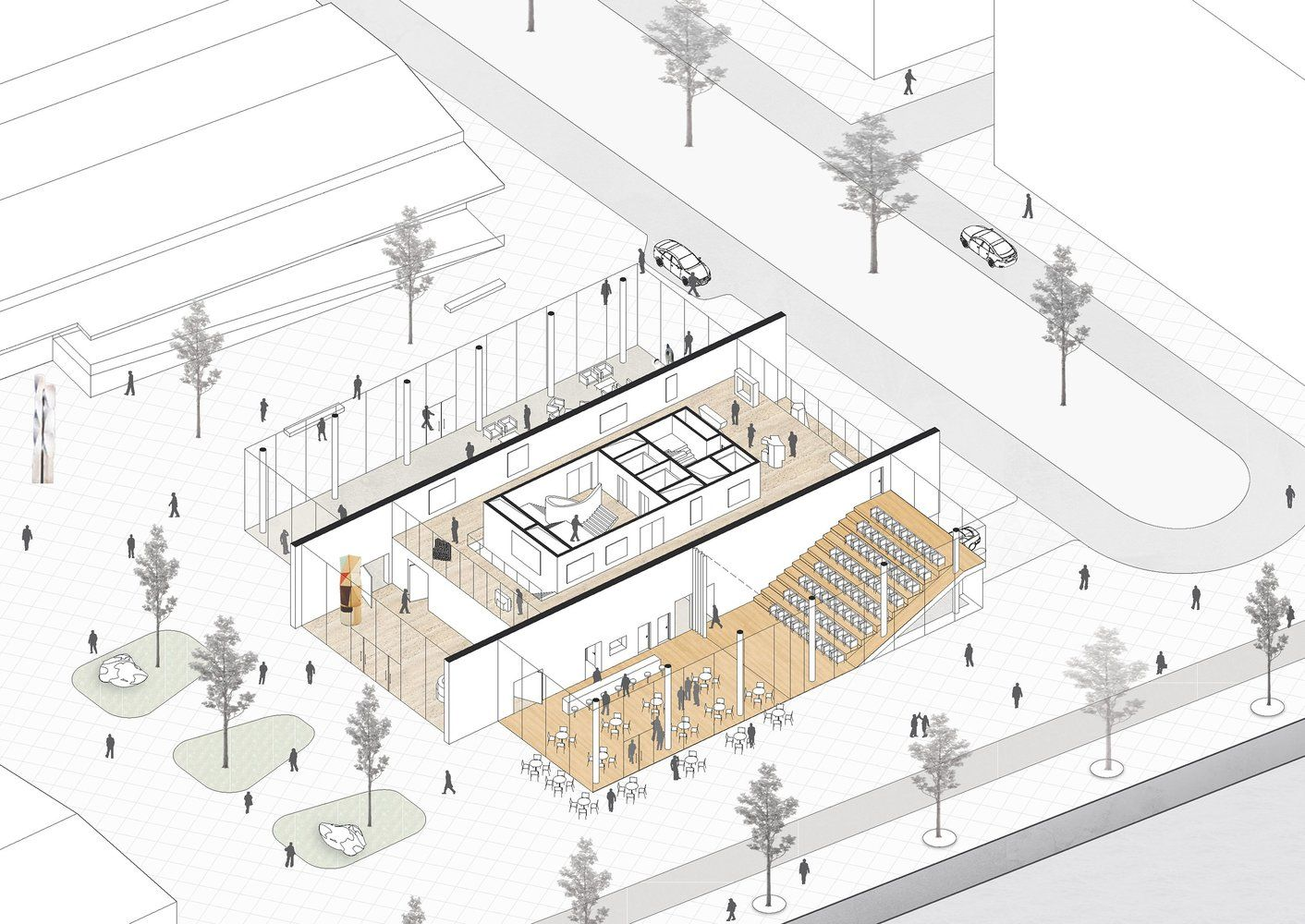 Barcode Architects & Habiter Autrement  8 is part of architecture -  Barcode Architects & Habiter Autrement  gallery axonometric