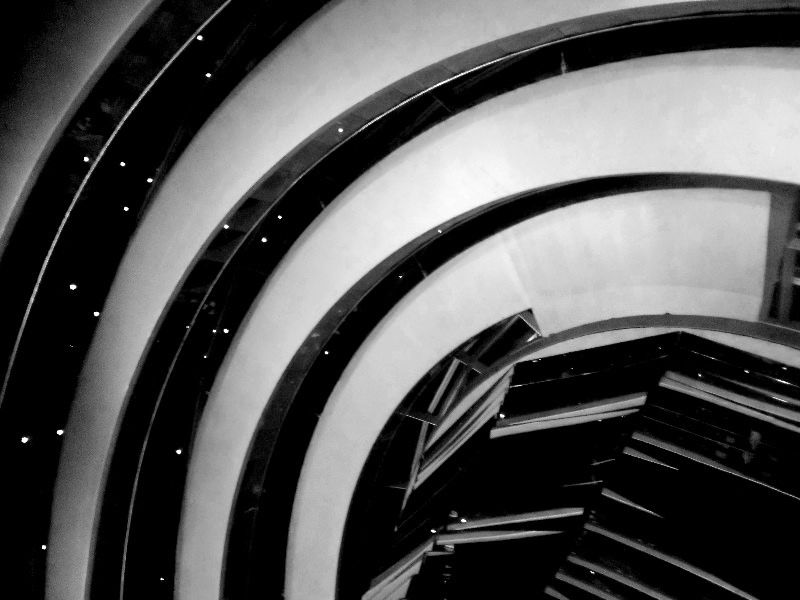 https://flic.kr/p/J88JVx   Inside the dome   The interior of the dome on top of the Reichstag building in Berlin, Germany.