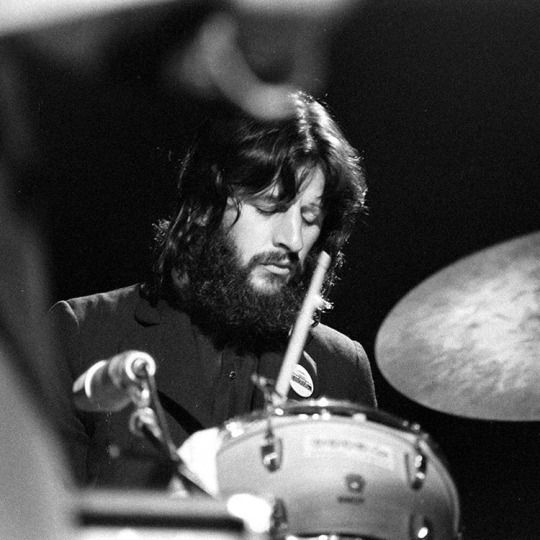 Ringo Starr Playing At George Harrisons Concert For Bangladesh 1971