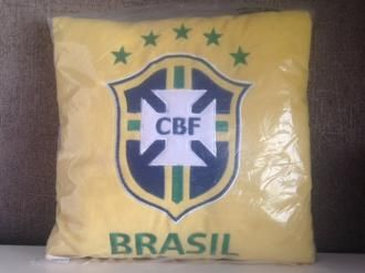 Vankúš Fleece 35x35 cm Club Brasil