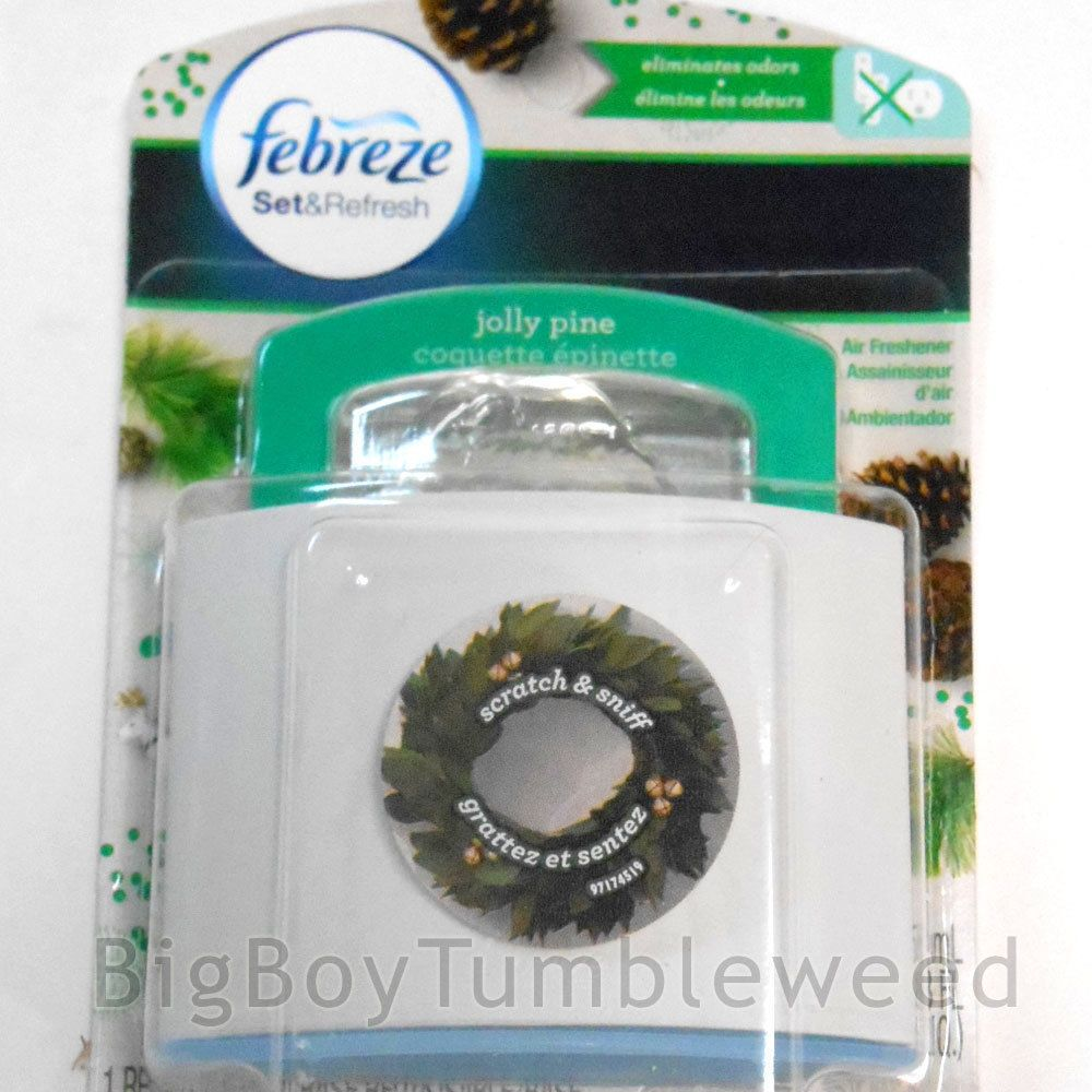 FEBREZE Jolly Pine Air Freshener Holiday scent Set & Refresh thin ...