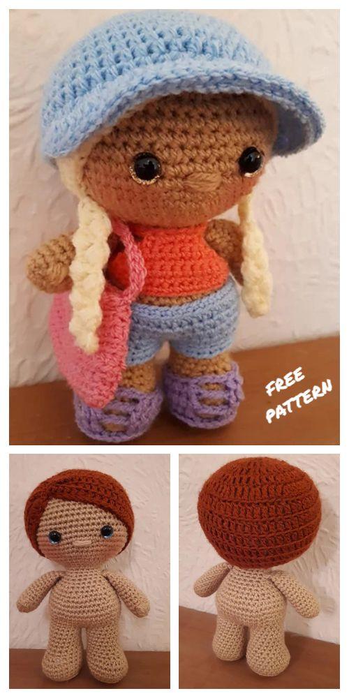 Amigurumi Weebee Doll Snowman Free Crochet Patterns - All - DIY Magazine